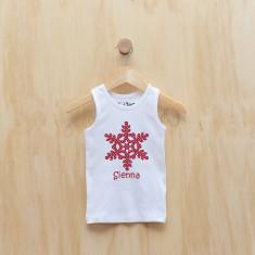 Personalised Christmas snowflake singlet