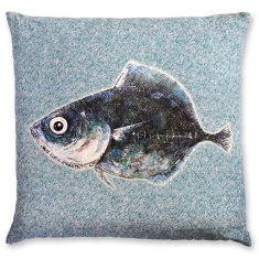 Bali Fish linen cushion cover