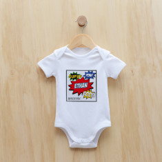 Personalised superhero comic bodysuit