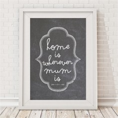 Home is wherever mum is print