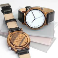 Personalised Wooden Men's Minimalist Watch