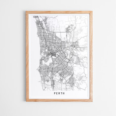 Perth minimalist map print