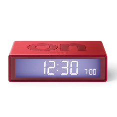 Flip Alarm Clock in Metallic Red