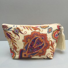Paisley Liberty print makeup bag