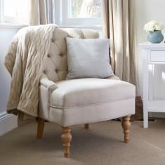 Linen Buttoned Armchair