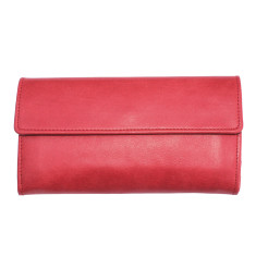 Verona wallet in cherry