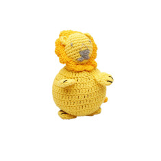 Crochet lion soft toy