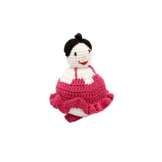 Crochet ballet girl soft toy