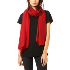 Vertou cashmere shawl in dark red