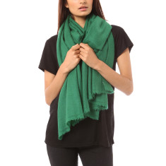 Vertou cashmere shawl in emerald green