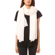 Vertou cashmere shawl in ivory