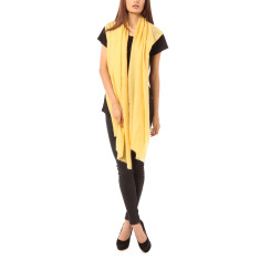 Vertou cashmere shawl in maize