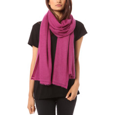 Vertou cashmere shawl in berry