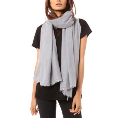 Vertou cashmere shawl in silver grey