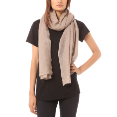 Vertou Cashmere shawl in natural