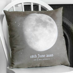 Personalised Special Date Moon Phase Cushion