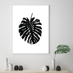 Minimalist monstera leaf art print (various sizes)