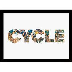 Cycle Peloton Typographic Print