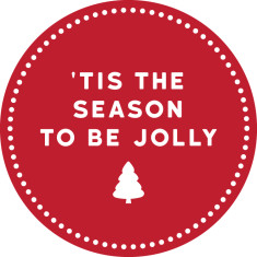 Tis the season to be jolly reusable fabric wall decal