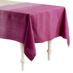 Dip Dye Pink Linen Tablecloth