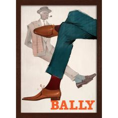 Bally men's fashion with pipe print