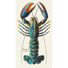 French Lobster Linen Wall Hanging