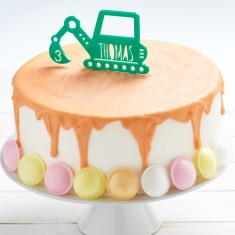 Personalised Digger Birthday Cake Topper