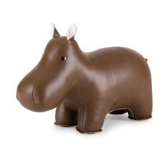 Zuny bookend classic hippo brown