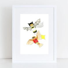 Batman & Robin - Flying High - Limited Edition Fine Art Print