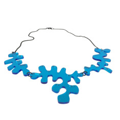 Matisse Blue Mirror Necklace