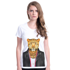Leopard women's fitted tee