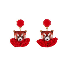 Leonie the Red Panda Earrings