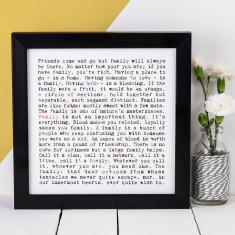 Family typographic print