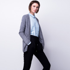 Take me anywhere cashmere cardigan in grey