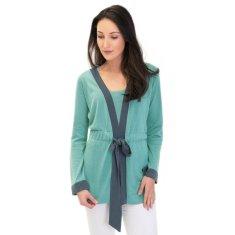 Silk Cashmere Kimono Cardigan In Sea