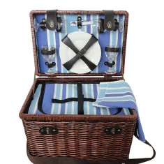 Sorrrento Luxury Wicker Picnic Basket for 4 People
