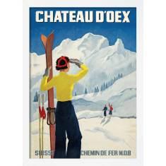 Skiing Chateau d'Oex #2 Print