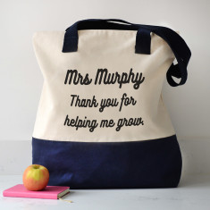 Personalised Thank You Teacher Shoulder Bag