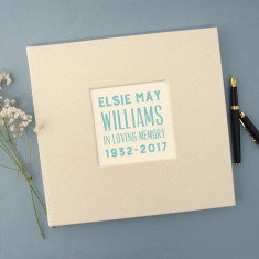 Personalised Typographic Remembrance Book