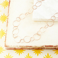 Jaisalmer Textured Chain In Rose Gold Plate