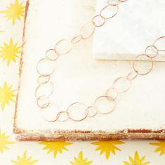 Jaisalmer Textured Chain In Rose Gold Plate