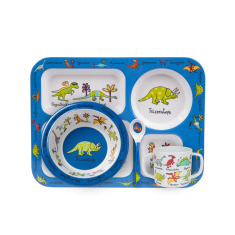 Tyrrell Katz Dinosaur Dinner Set with Training Cup and Spoon