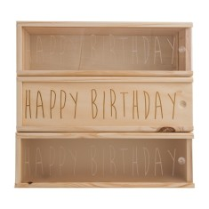 Handwritten Happy Birthday Wine Box