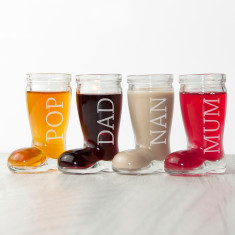 Personalised Santa Boots Shot Glasses (Set of 4)