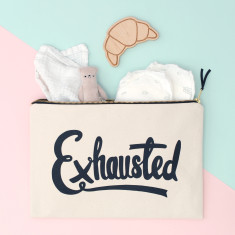 Exhausted XL Canvas Pouch