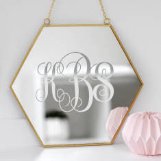 Personalised Monogram Mirror