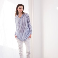 Navy and white long shirt