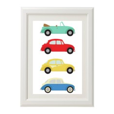 Boys' vintage VW bug car print