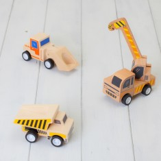 Set Of Three Wooden Construction Toys