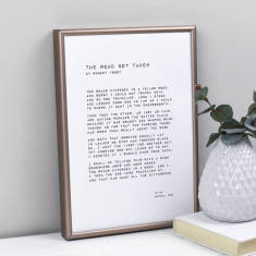 Any Words Personalised Monochrome Print Various Fonts